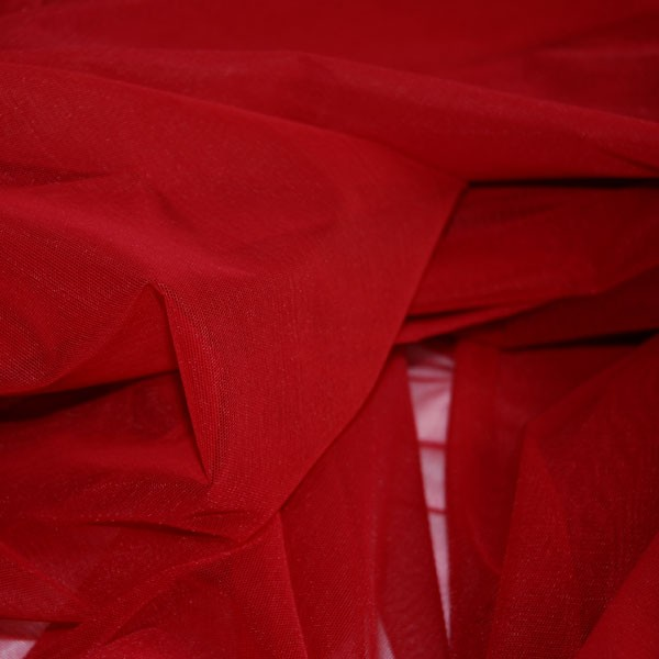 Tulle Remnant No. 1016 (Elastic Tulle Paris, ruby)