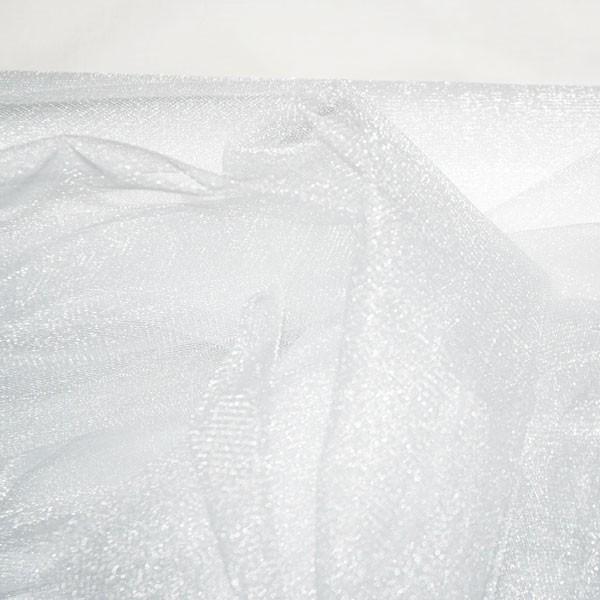 Tüllrest No. 1045 (Glitzertüll Nightlife, snow)