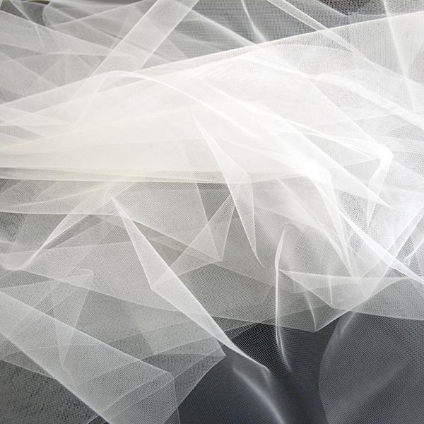 Tulle Remnant No. 1352 (Fine Tulle T5 wide, snow)