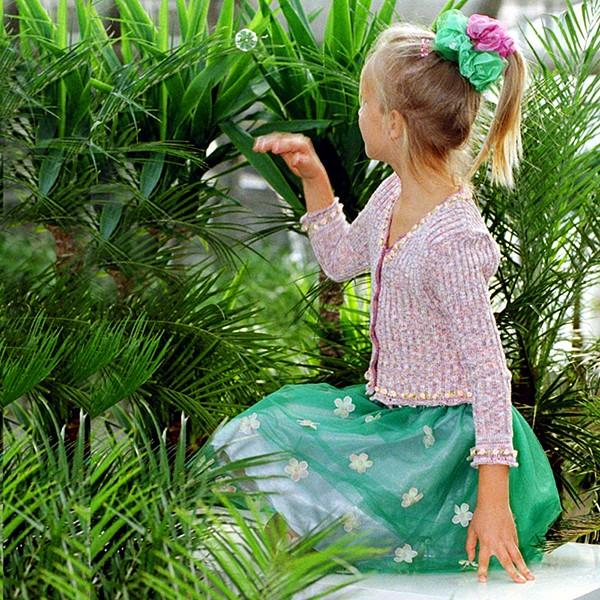 Blüten Tüllrock emerald