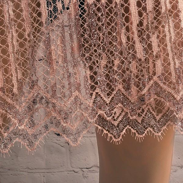 Haute Couture No. B-008-A apricot-silver