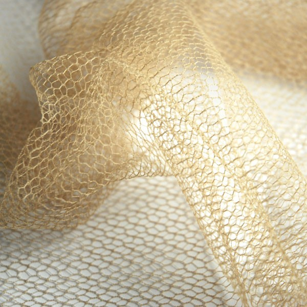 Tulle Lace Fragments dusty sand