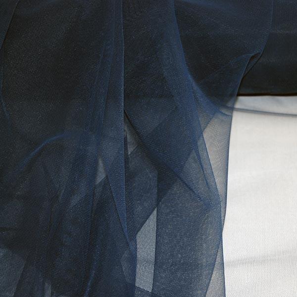 Tüllrest No. 1032 (Feintüll Tilda, navy blue)