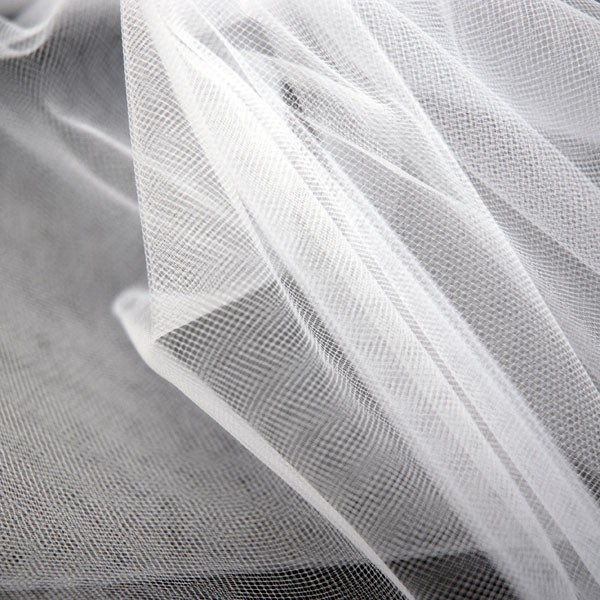 Tulle Remnant No. 1302 (Fine Tulle T5, snow)