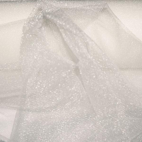 Tulle Remnant No. 1365 (Sparkling Tulle Nightlife, silk)