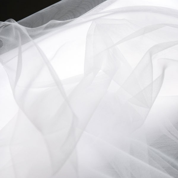 Tulle Remnant No. 1291 (Fine Tulle Valle, snow)