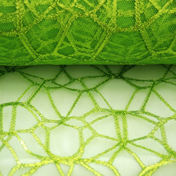 Tulle Remnant No. 978 (Sparkling Tulle Showtime, green apple)