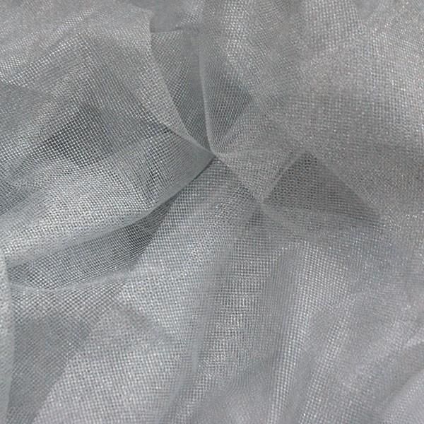 Tüllrest No. 894 (Glitzertüll Network, silver)