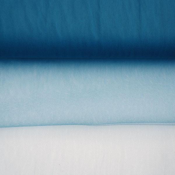 Tulle Remnant No. 969 (Fine Tulle T5, antique blue)