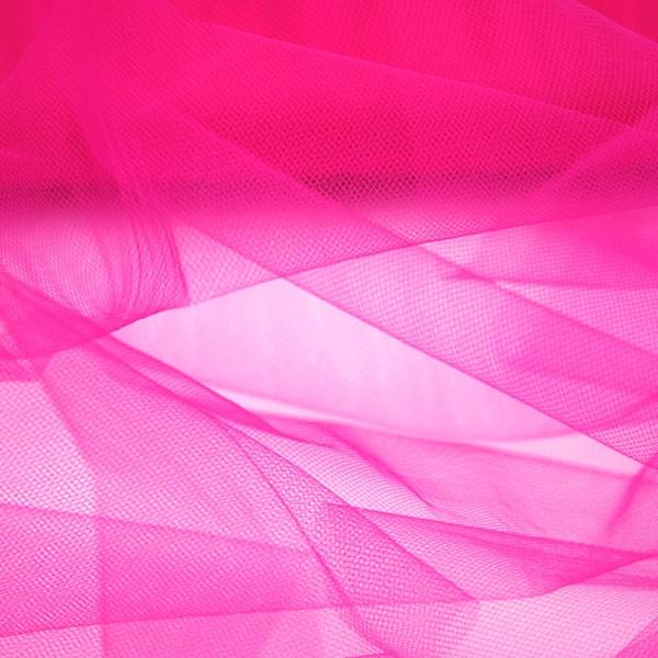 Tüllrest No. 1297 (Feintüll T5, deep pink)